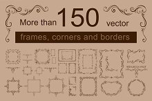 Vector frame and corners