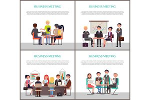Business Meeting Banners with People