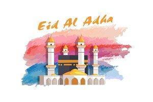 Eid Al Adha Muslim Holiday Banner