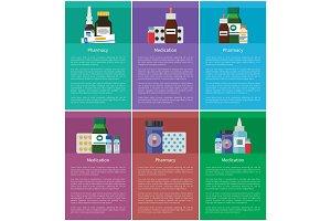 Medication Pharmacy Elements Vector