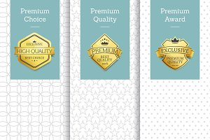 Premium Choice Posters Set Vector