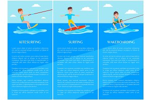 Wakeboarding and Kitesurfing