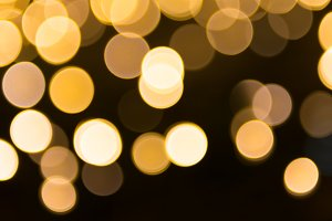 Orange and yellow blur holiday light