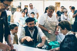 Fair of the artisan sausage making