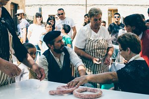 Exhibition of the artisan sausage ma