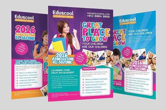 Elementary school promotion flyer flyer templates for Elementary school brochure template