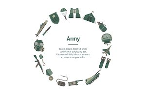 Army Weapons Set. Vector