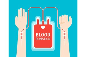 Blood Donor Service Card Poster