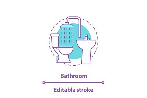 Bathroom furniture concept icon
