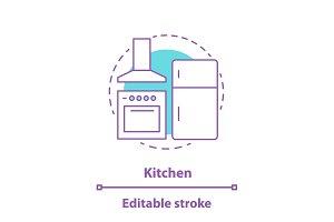 Kitchen appliances concept icon