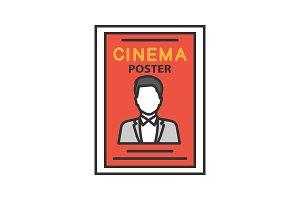 Movie poster color icon