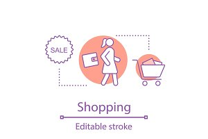 Shopping concept icon