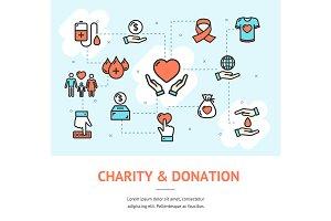 Charity Donation Banner Horizontal.