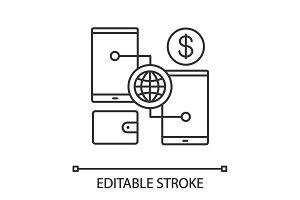 Digital wallet linear icon