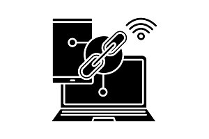 Link sharing glyph icon