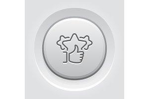 Feedback Line Icon.