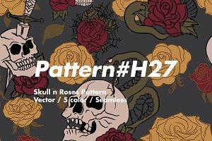 Skull & Roses H27