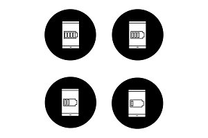 Smartphone battery charging icons