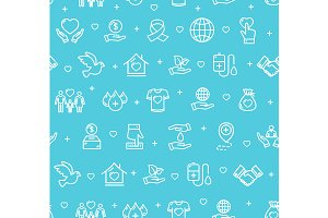 Donation Pattern Background. Vector