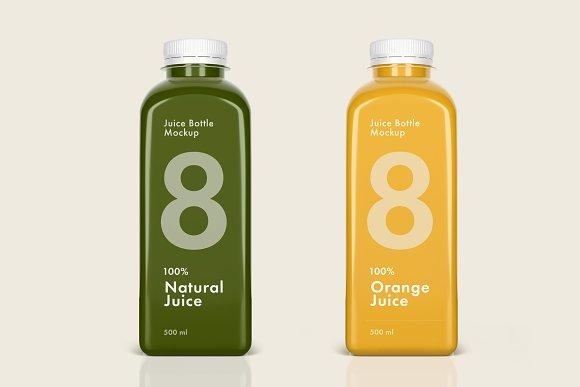 juice bottle mockup set product mockups creative market