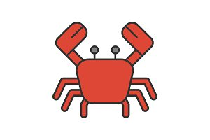 Crab color icon
