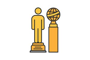 Movie awards color icon