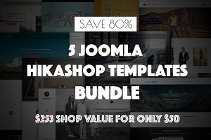 5 Joomla Hikashop Templates Bundle