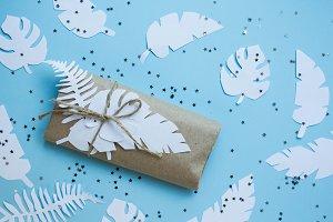 present on craft paper