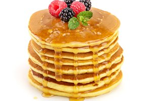 Pancakes stack with different