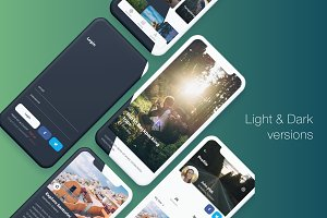 Voyago - Travel App Sketch Template