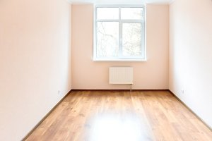Empty room with window and wooden fl