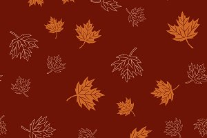 Autumn seamless pattern leaves