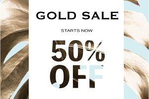 gold sale banner
