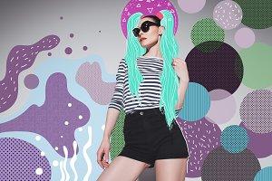 Attractive woman in sunglasses