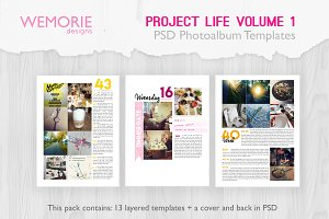 A5 Photoalbum Template Project Life