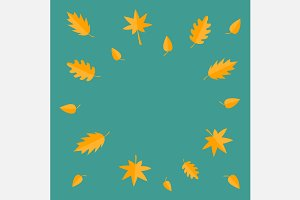 Autumn leaves frame set