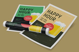 Happy Hour Beer Party Poster #2