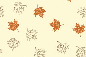 Autumn seamless pattern with brown m