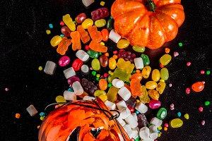 Halloween sweets background