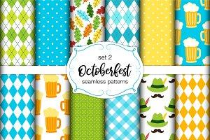 Cute seamless Octoberfest patterns