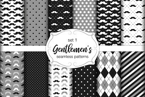 Gentlemen's seamless patterns