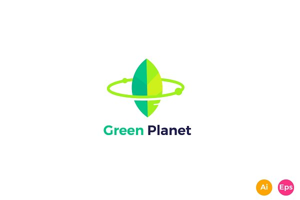 Green Planet Logo Template