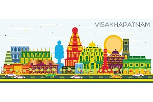Visakhapatnam India City Skyline