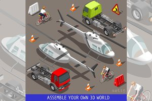 Flat 3D Vehicle Aid Carrier Ride Set