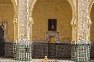Interior mausoleum Moulay Ismail