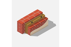 building brick wall layers