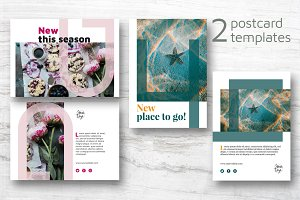 2 Modern Postcards Templates
