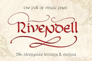Rivendell. The full of magic font.