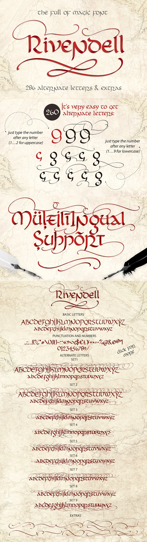 Rivendell. The full of magic font.