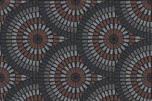 Fan pattern seamless texture